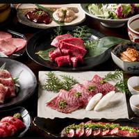 焼肉居酒家 韓の台所 - 山形牛「華」コース 6,000円+税
