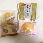 大阪屋 - 料理写真:スイートポテト、栗パウンド特選和栗どら、もっちれーぬ(プレーン)