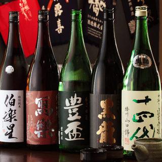 常時30種以上の日本酒ラインナップ!