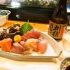Isshinzushi - 料理写真:お造り盛り合わせ & 冷酒