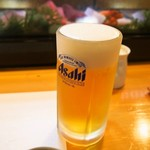 一心寿し - 生ビール