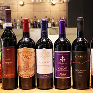 1号店にいるマネージャソムリエ厳選ワイン