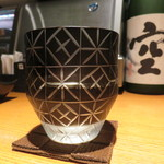 焼き鳥 鳥抱月 - 隠し剣純米大吟醸(愛媛県)