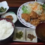 燦家 - とり唐定食(ごはん大)