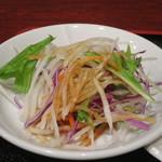 健康中華庵 青蓮 - 大根、水菜、ニンジン、紫キャベツのサラダアップ