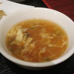 健康中華庵 青蓮 - かき玉スープアップ