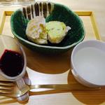 カウンターお野菜天ぷら mego - 京抹茶のアイス天ぷら