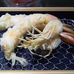 カウンターお野菜天ぷら mego - 海老