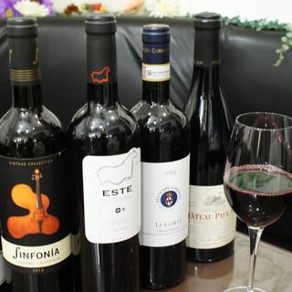 ◎お酒が自慢◎ヨーロッパをメインとしたワイン豊富にあります!