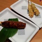 魚民 - つくね(1本)とぼんじり(2本) 各328円