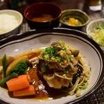 洋-HIRO- - 料理写真:おろしきのこハンバーグ