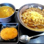 ゆで太郎 - 料理写真:朝ごはん(カレー丼)+コロッケ!(2016,10/22)