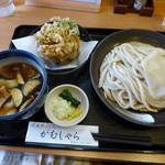 がむしゃら - 肉汁うどん+かき揚げ(750円)