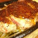 ハドウス - サガリステーキのアップ写真。