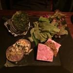 58225555 - 2016年10月ディナー パテドカンパーニュ、テットドフロマージュ、サザエ香草バター