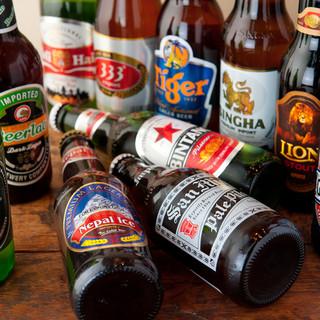 エスニック料理と相性◎約35種類のクラフト・アジアンビール