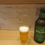 宇和島鯛めし 丸水 - Umenishikiビール、後方は食べ方のレクチャー