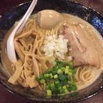麺堂 稲葉 - とりそば2号(大盛)850円・味玉100円