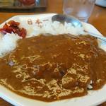 日本一食堂 - 半カレー。