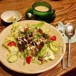 トネリコ カフェ - 「シシリアンライス (820円)」、スープとドリンクが付きます