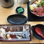 レストラン嵐山 - すき焼き鍋とお惣菜