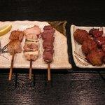 炭火串焼串まさ - 串焼5本