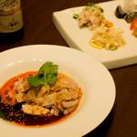 中華料理 HACHI - よだれが出るほど美味しい。ヨダレ鶏。ビールに合います