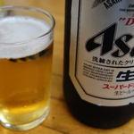 来集軒 - ビール大びん700円です。まいりました。