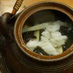 ろばた(呂者堂) - 松茸とハモの土瓶蒸し
