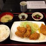 富水 - 生牡蠣フライ定食1000円
