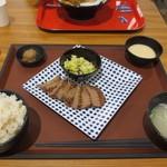 炭焼・仙台牛たん あかり - 牛たん3枚定食