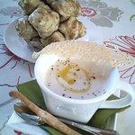 マハロカフェ リストランテ - メタボ対策、話題の「菊芋ヘルシースープ」です。数に限りがあるので、是非ご予約を!