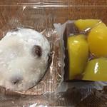 梅むら - 豆大福と栗蒸し羊羹