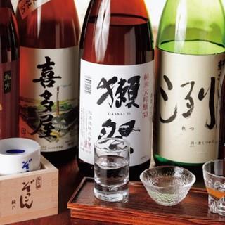 60種類以上の日本酒をお楽しみ頂けます♪