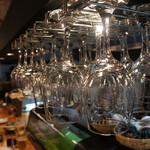 酒房 きん魚 - 日本酒の香りや色が楽しめるワイングラス