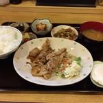 58264833 - 日替わり定食〜(*^ω.^*)v豚生姜焼き¥750円