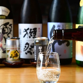 日本酒はワイングラス