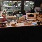 ローマの家 - 奥の厨房風景