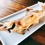 日田 鮎やな場 - 『鮎塩焼き(大)』様(600円)こんがり焼かれた鮎様が美味しそう♪