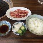 雷門 - 161101 牛定カルビ(ラーメン付)