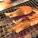 浜焼太郎 - サービスの海老