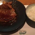 洋食の店 もなみ - ハンバーグセット(¥1250)