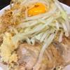 Ramenjirou - 料理写真:690円『小ラーメン』+80円『汁無し』(ニンニク野菜マシ)2016年11月吉日