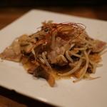 ロイズ - エリンギと豚バラのガーリック焼き
