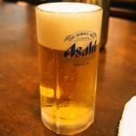佐藤養助 - 熱々の「きりたんぽ鍋」には冷たい「生ビール」が美味しい