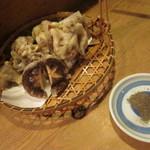 おでん屋 ひなた - キノコの天ぷら