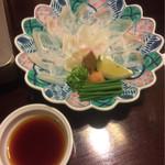 祢保希 - クエのちり造り  クエちり鍋コース ¥11,000