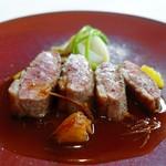 コムシコムサ - 鴨胸肉のロースト オレンジ風味のソース