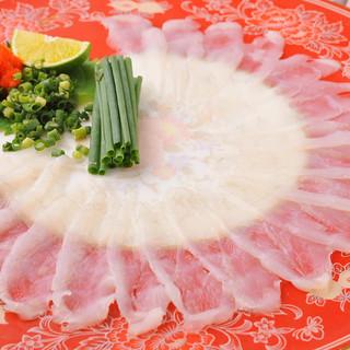【旬の鮮魚】『とらふぐ』『寒ブリ』『のどぐろ』『本タラバ蟹』