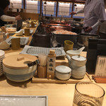 天ぷらまきの - 店内(カウンターから)